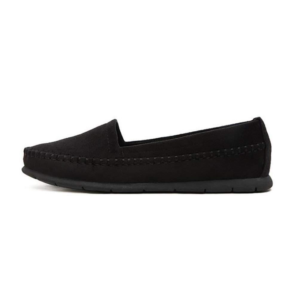 Fuxitoggo Damen Flach Schuhe Herbst Einfach Beiläufig Schuh Low Low Low Heels Atmungsaktiv Gute Qualität Schuhe schwarz US8 EU39 UK6 CN39 (Farbe   Schwarz Größe   US5.5 EU36 UK3.5 CN35) 2db1af