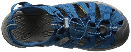 Keen WHISPER W-NEUTRAL GRAY/BRIGHT CHARTREUSE 1008452 - Sandalias para mujer Azul petróleo