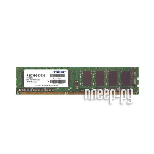 Patriot Memory PSD38G13332 SIG 8GB 1333MHZ DDR3 CL9 by Patriot