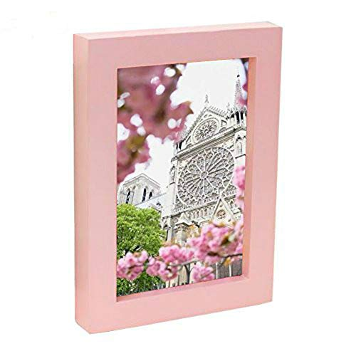 (RAPID CAT Pink Frames 8 by 10-Inch Picture Frame,Solid Wood PMMA Material,Display Pictures 8x10 with Mat, Desktop Display or Wall Decoration)