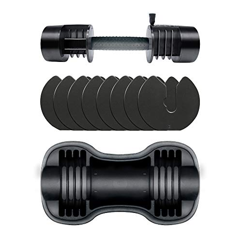 ATIVAFIT Adjustable Dumbbell for Workout Strength Training Fitness Weight Gym (Single)