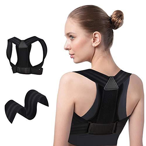 Posture Corrector for Men & Women, Wide Support Adjustable Upper Back Posture Brace for Posture Correction, Comfortable…