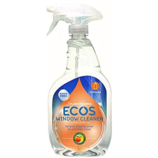 Earth Friendly Products ECOS Window Cleaner with Vinegar, 22-Ounce, (Pack of 3)