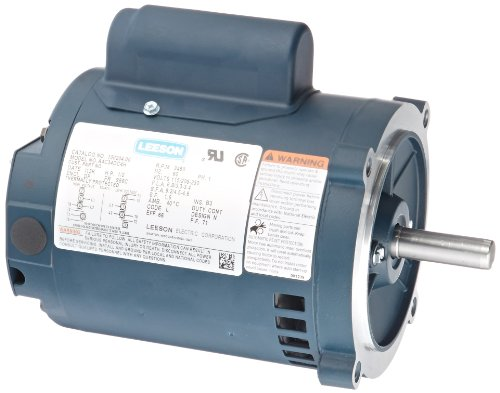 (Leeson 100204.00 Jet Pump Motor, 1 Phase, S56C Frame, Round Mounting, 1/2HP, 3600 RPM, 115/208-230V Voltage, 60Hz Fequency)