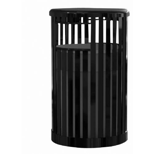 Ssn 1393463 36 gal Receptacle with Lid & Liner (Single Surface Bench Mount)