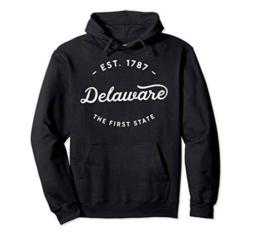 Classic Retro Vintage Delaware The First State USA Novelty Pullover Hoodie