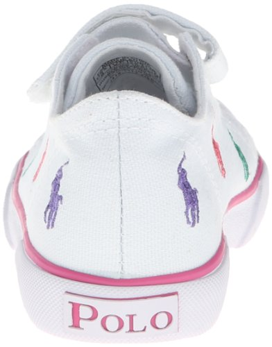 Polo Ralph Lauren Kids Bal Harb Captoe Captoe High Top Sneaker (Toddler),White Multi,6.5 M US Toddler