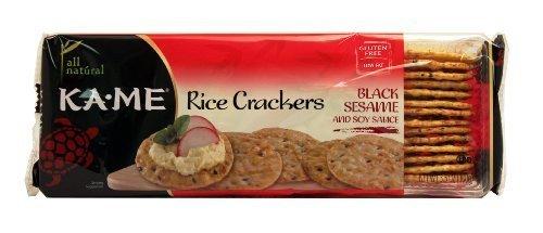 (Ka-Me B38995 Ka-me Rice Crunch Cracker Black Sesame & Soy Sauce -12x3.5oz by Ka-Me)
