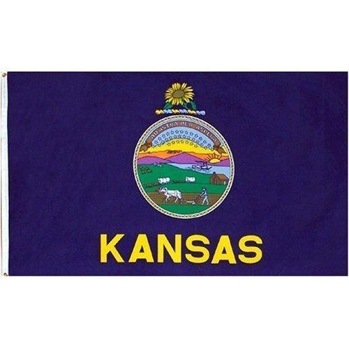 New Flag latter-dayState of Kansas Flag 4x6 Foot
