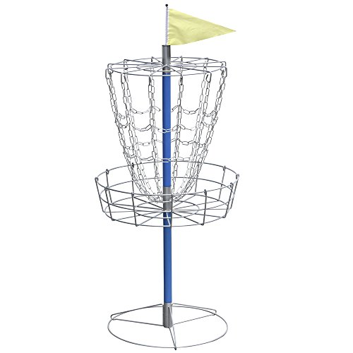 World Pride Disc Golf Basket - Lightweight Double Chains Portable Practice Target Steel Frisbee Hole by World Pride