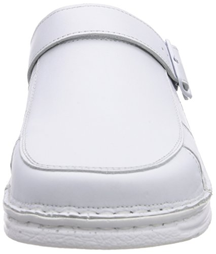 Fischer blancos Weiß Zuecos Pantolette Blanco 111 Weiß rxwUr7