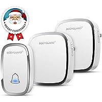 Bodyguard Wireless Doorbell,Waterproof Chime Kit...