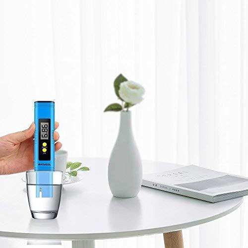VANTAKOOL Digital PH Meter, PH Meter 0.01 PH High Accuracy Water Quality Tester with 0-14 PH Measurement Range for Household Drinking, Pool and Aquarium Water PH Tester Design with ATC (Blue) by VANTAKOOL (Image #6)