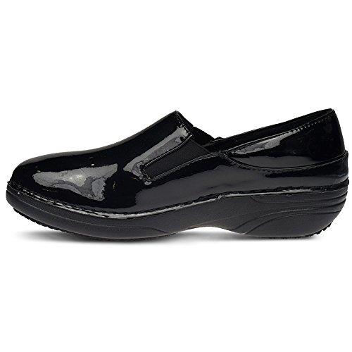 Fjær Trinnet Faglig Dame Ferrara Energi Skoen Svart Patent