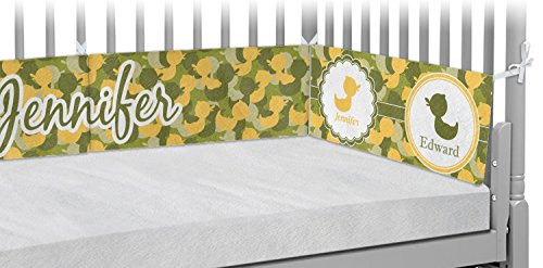 Rubber Duckie Camo Crib Bumper Pads (Personalized) by RNK Shops