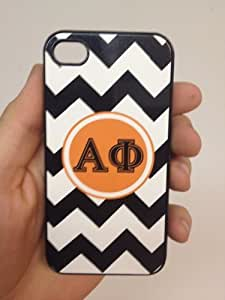 (130bi5) Custom Greek Life Sorority Alpha Phi iPhone 5 Black Case Black Zigzags