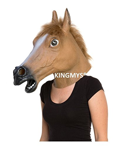 Kingmys KINGMYS Latex Horse Head Mask (Brown Horse Mask) (Horse Mask Child)