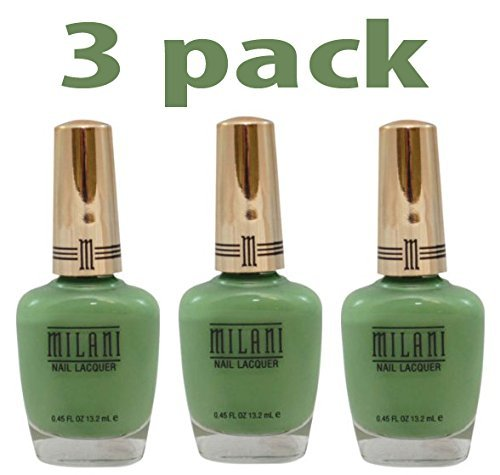 - Milani Gold Label Specialty Nail Lacquer, 01 Showy Sea-Green, 0.45 fl oz by Milani