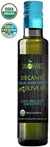 Organic Extra Virgin Olive Oil Sky Organics 16.9 oz-100% Pure, Greek, Cold Pressed, Unfiltered,...