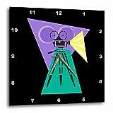 3dRose dpp_38376_3 Retro Movie Camera Wall Clock, 15 by 15-Inch