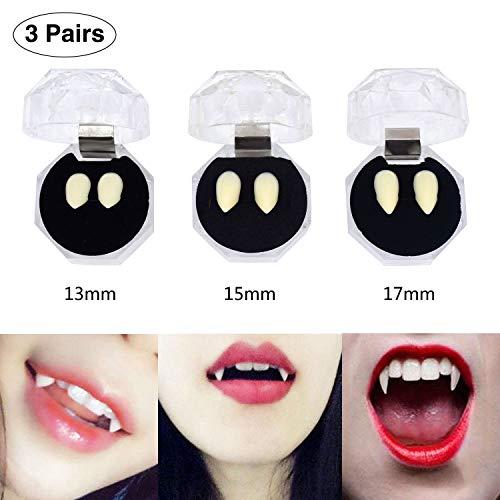 Racol Vampire Teeth, 3 Pairs Halloween Tooth Makeup