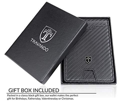 TRAVANDO Slim Wallet with Money Clip AUSTIN RFID Blocking Card Mini Bifold Men 6