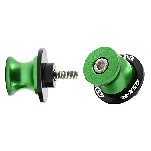 orcycle Swing arm Sliders Spools CNC Swing Arm Stand Screw for SUZUKI GSXR 600 750 1000 (Green) ()