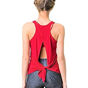 Onzie Hot Yoga 3109 Tie Back Tank Red
