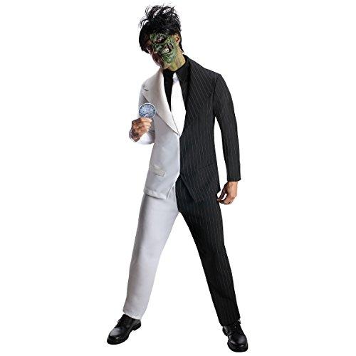Batman Two Face Costume - Rubie's Men's Dc Super Villains Adult