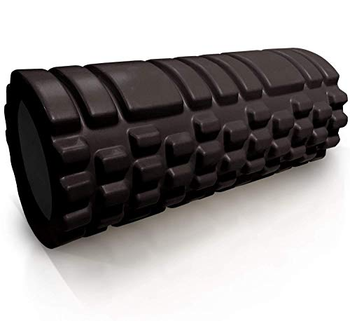 Solid Core EVA Foam Roller with Grid/Bump Texture for Deep Tissue Massage and Self-Myofascial Release