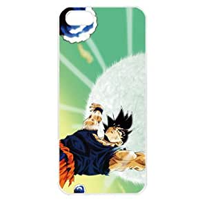 Dragon Ball Manga Comic Slim SON GOKU Apple iPhone 5 TPU Soft Black or White case (White)