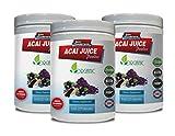 antioxidant Vitamins for Men - ACAI Juice Powder - Organic Dietary Supplement - acai max Detox - 3 Cans 24 OZ (195 Servings)