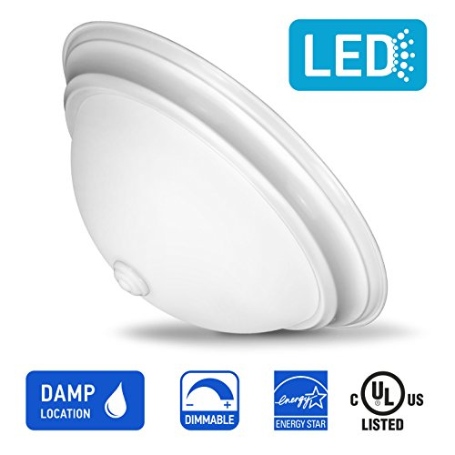 White Finish Opal (IN HOME 13-inch LED Glass Dome Flush Mount Ceiling Light Fixture, 18W (90W Equivalent), Dimmable, 4000K (Bright White), 1000 Lumens, White Finish with Opal Glass Shade, UL & Energy Star Listed)
