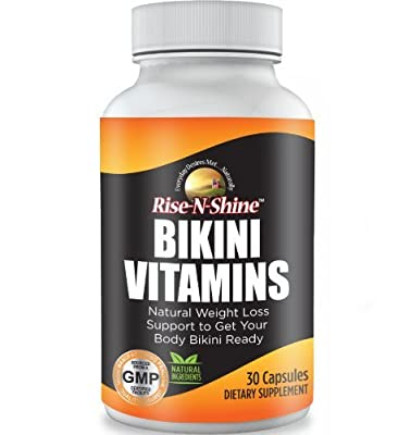 Bikini Vitamins - Best Selling Natural Diet Weight Loss Support and Appetite Suppressant with Garcinia Cambogia, Green Tea, Acai, Apple Cider Vinegar, Kelp, Grapefruit and more! Money Back Guarantee