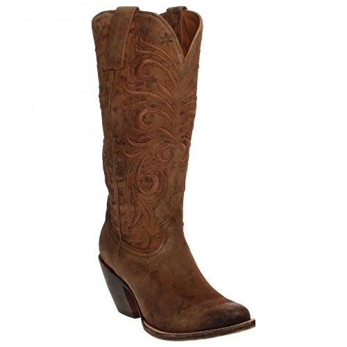 Fashion Floral Boot Western Printed Brown Lucchese nRA1Txan