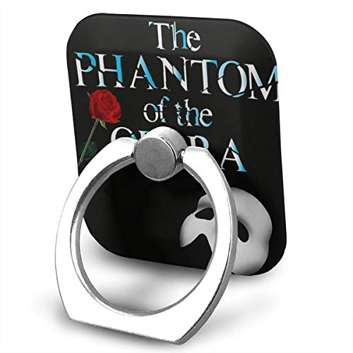 EdithL The Phantom of The Opera Logo Cellstand Finger Ring Stand Holder, Car Mount 360 Degree Rotation Universal Phone Ring Holder Kickstand for iPhone/iPad/Samsung
