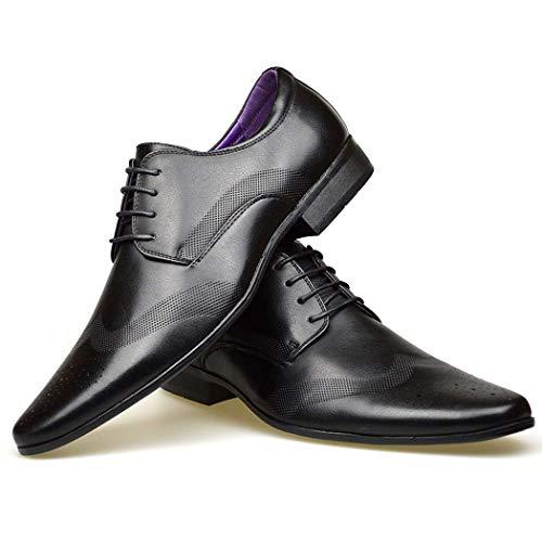 8 In Nuovo Uomo 7 Uk Black 10 11 Formali Taglia Da 6 Scarpe Elegante Alla Abito Moda Nera Pelle 9 wtxZII