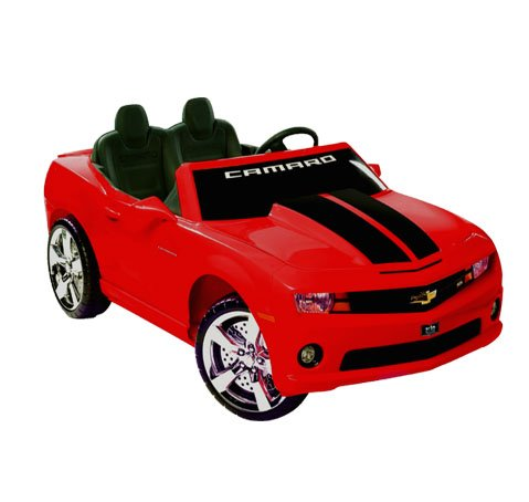 Chevrolet Racing Camaro 12v Mini Car - Kid's Ride on Toy (Red) by Kid Motorz