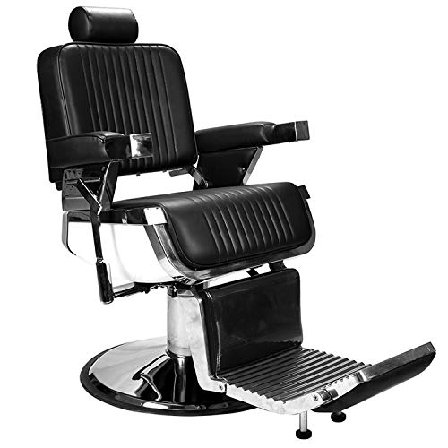 BarberPub All Purpose Heavy Duty Vintage Hydraulic Recline Barber Chair Salon Beauty Spa Styling...