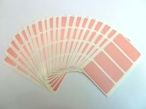 80 Etiquetas , 50x20mm Rectangulo , Rosa , Color Code pegatinas , autoadhesivo Adhesivo De color etiquetas