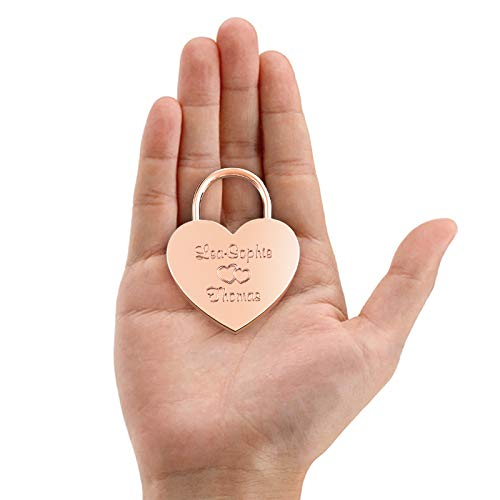 Free Gift-Box and Much More/… Get Your Customized Love-Lock Now! LIEBESSCHLOSS-FACTORY Engraved Heart Padlock Blue