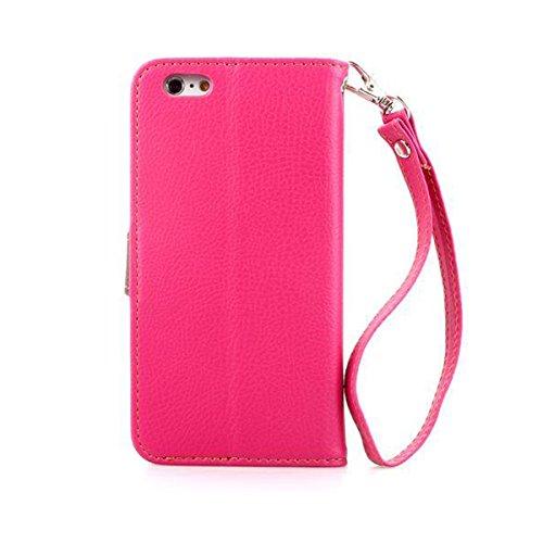 iPhone 6 Hülle,Apple iPhone 6 Hülle (4.7 Zoll) Lifetrust®[Rose] Schutzhülle Flip PU Ledertasche Ständer Schutzhülle Tasche Hülle Case Cover mit Kreditkartensteckplätze für Apple iPhone 6 (4.7 Zoll)