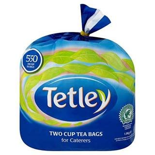 Tetley Two Cup Tea Bags For Caterers 550 Teabags 1.5Kg X Case Of 4 by Tetley