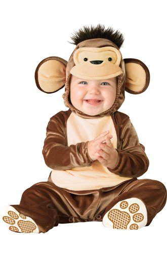 InCharacter Unisex-baby Newborn Monkey Costume, Brown/Cream, 6-12 Months