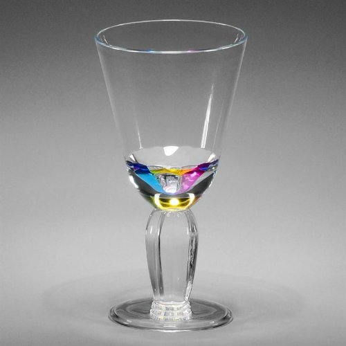 Merritt International 24040 Rainbow Diamond Wine Glass by Merritt (Merritt International Rainbow Diamond)