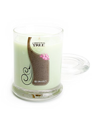 Christmas Tree Candle - 6.5 Oz. Highly Scented Green Jar Candle - Christmas Candles Collection by Shortie's Candle Company