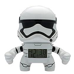 BulbBotz Star Wars Stormtrooper Kids Light Up Alarm Clock | white/black | plastic | 7.5 inches tall | LCD display | boy girl | official