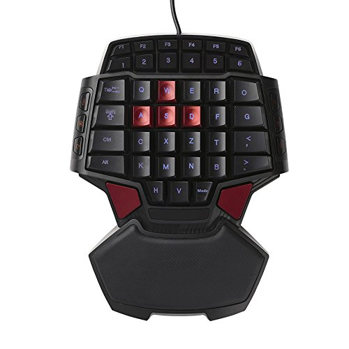PinPle Keybaord One Handed Keyboard Portable Mini Gaming Keypad Ergonomic Game Controller for LOL / WOW / DOTA