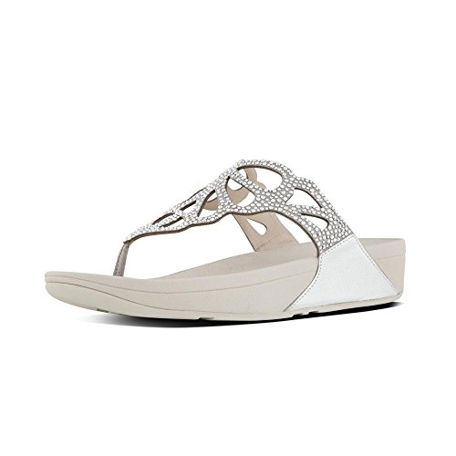 FitFlop H69 Women's Bumble Crystal Toe Post Sandal Silver sale enjoy best sale for sale buy cheap fashion Style free shipping low price fee shipping e2OqyB