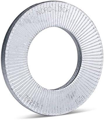 20 St/ück aus Stahl mit vergr/ö/ßertem Au/ßendurchmesser Nord-Lock Keilsicherungsscheiben NL6sp f/ür M6